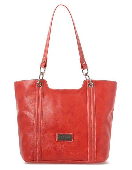 Basque - 'AJ' Shopper Tote in Coral BHB042
