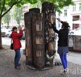 Book Forest: Berlin Turns Fallen Tree Trunks Into a Free Book Exchange! | Inhabitat - Sustainable Design Innovation, Eco Architecture, Green Building