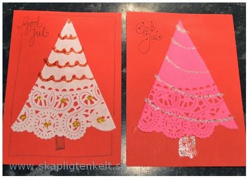 Julkort av tårtpapper
