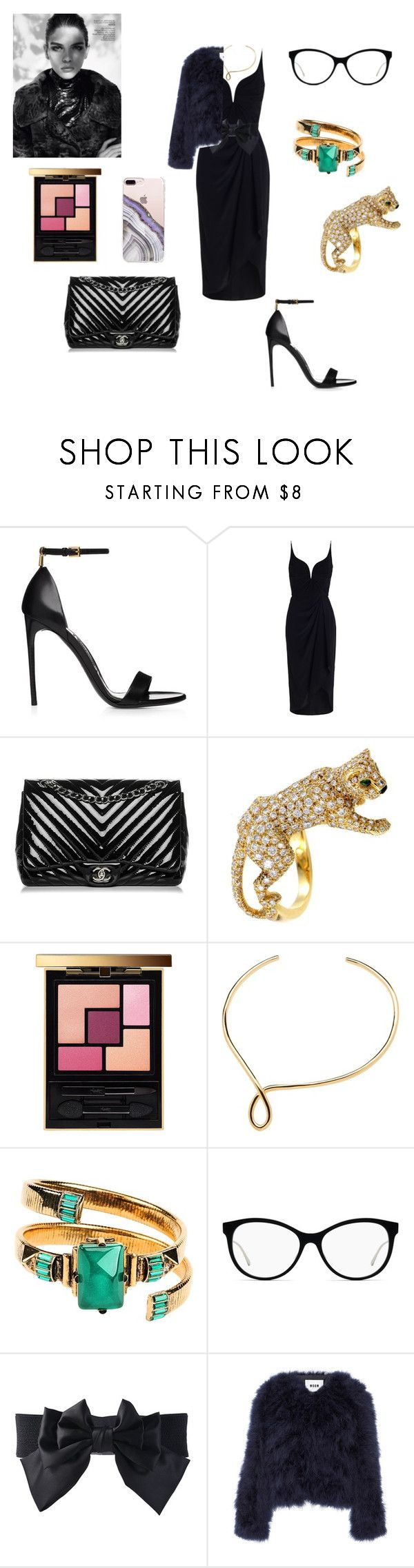 """""""Untitled #340"""" by gloriatovizi on Polyvore featuring Zimmermann, Chanel, Yves Saint Laurent, Emilio Pucci, MSGM and Steve Madden"""