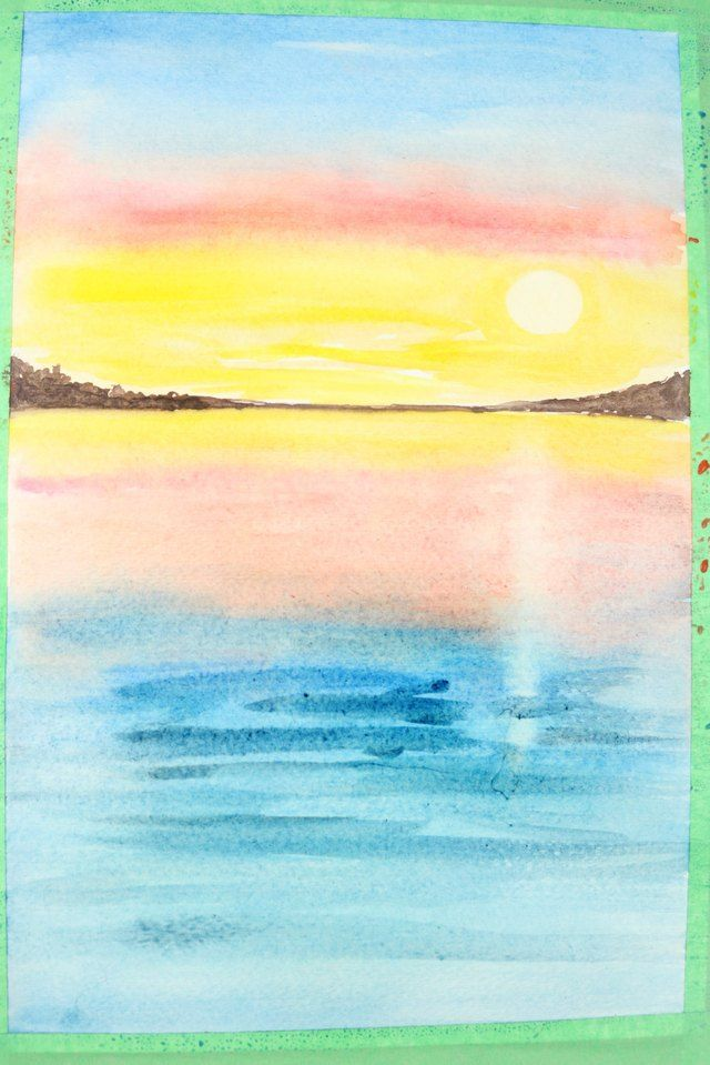 How To Make Charming Summer Fairy Lanterns Watercolor Sunset