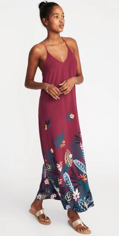 e47a2496cb3f12 Women's Maxi Shift Dress in Purple Print    Old Navy #ad #dresses  #summerstyle #womensfashion #maxidress   FASHION // Women's Clothing    Pinterest   Navy ...