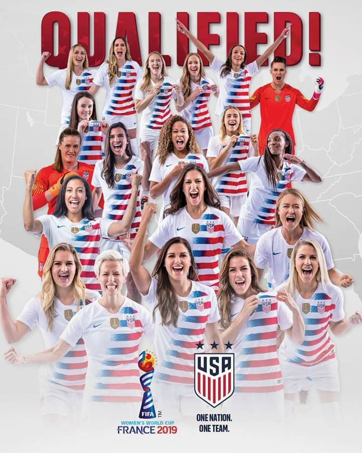 Uswnt Qualified To The 2019 World Cup October 14 2018 Usa Soccer Women Usa Soccer Team Girls Soccer Team