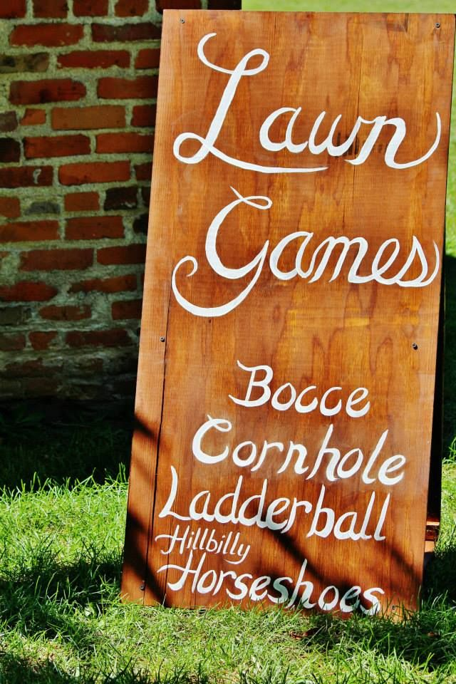Lawn Games Sign - Rustic Outdoor Wedding
