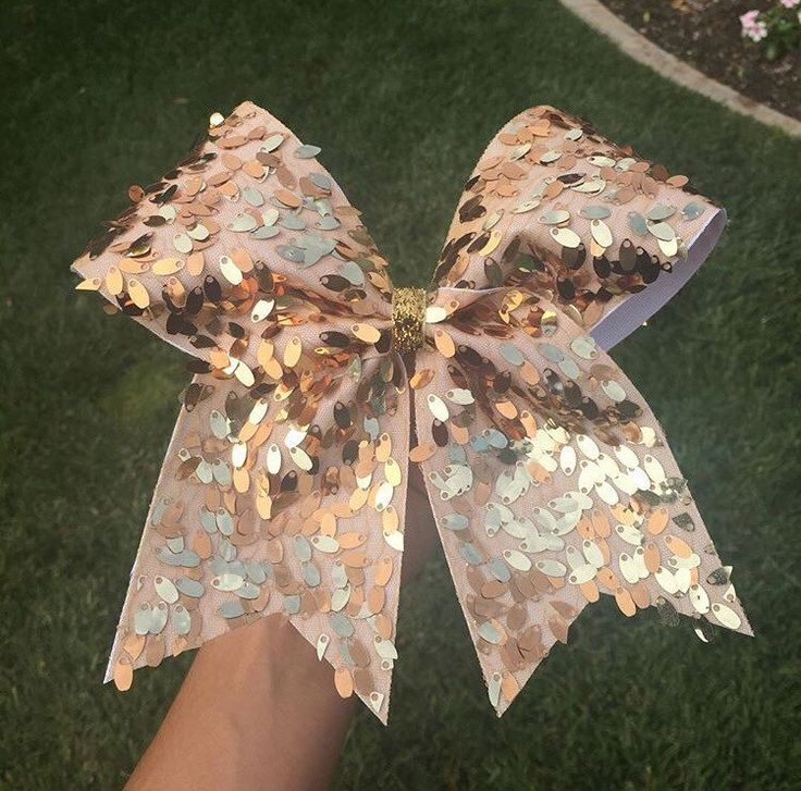 Gold Sequin Cheer Bow by CheerBowXO on Etsy https://www.etsy.com/listing/189522062/gold-sequin-cheer-bow
