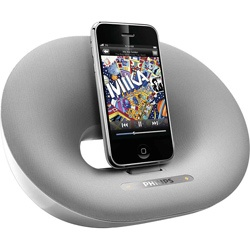 Philips Fidelio DS3000 Desktop Speaker Dock for iPod/iPhone (Refurbished) - only 47.99 so maybe be able to talk Mike into buying it.