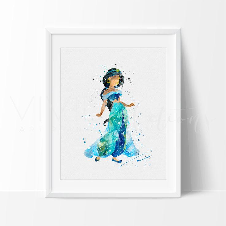 Princess Jasmine Disney Print Wall Decor