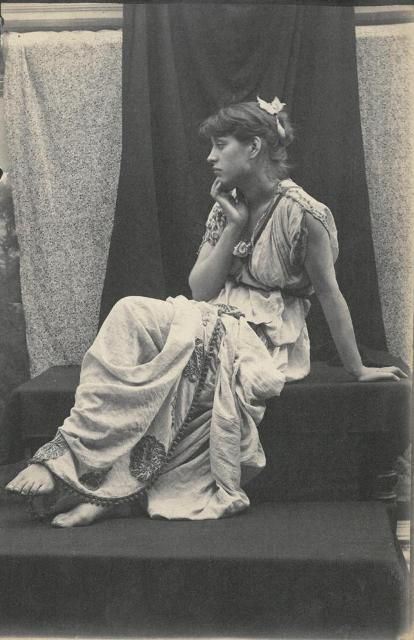 Hetty Pettigrew, Favourite Model (and Mistress) Of Théodore Roussel, Poses  For Sambourne