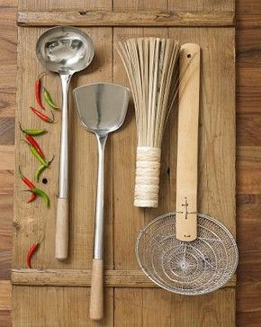 Traditional Wok Tool Set - asian - kitchen tools - other metro - Williams-Sonoma