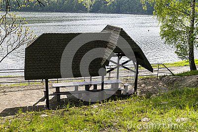 Empty Pavilion for grilling in Rożnów, Poland