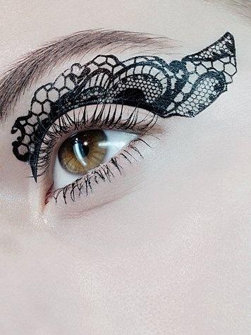 lace eye tattoos...