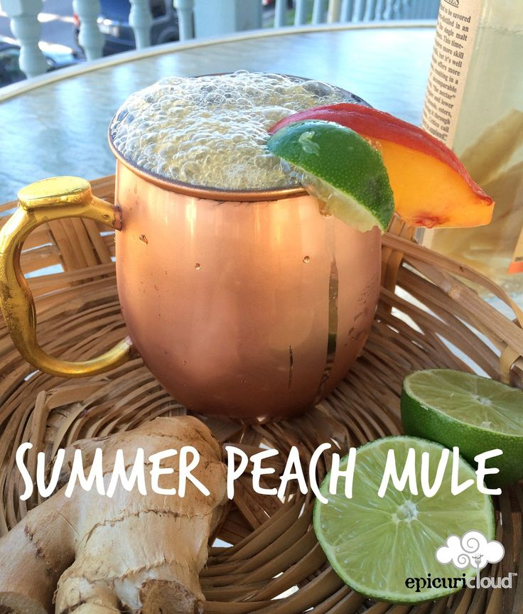 Summer Peach Mule Cocktail Recipe
