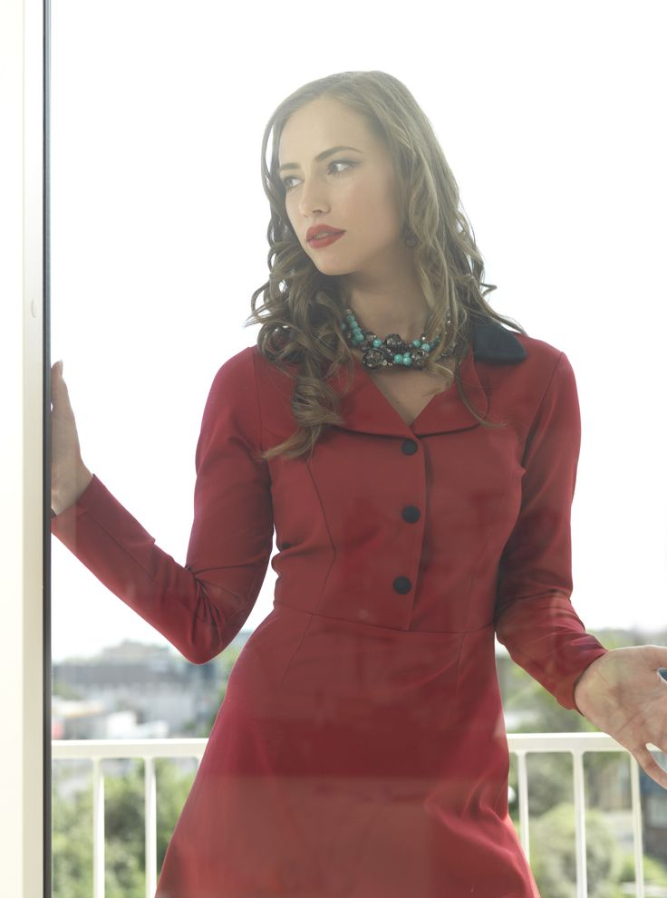 If you meet me during the winter, chances are that I will be wearing this beautiful red Iben dress. Available at www.weiz.dk