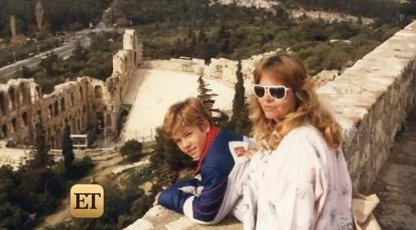 Paul Walker with his mother