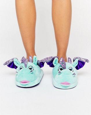 ASOS - NILES - Scarpe a pantofola con dragone