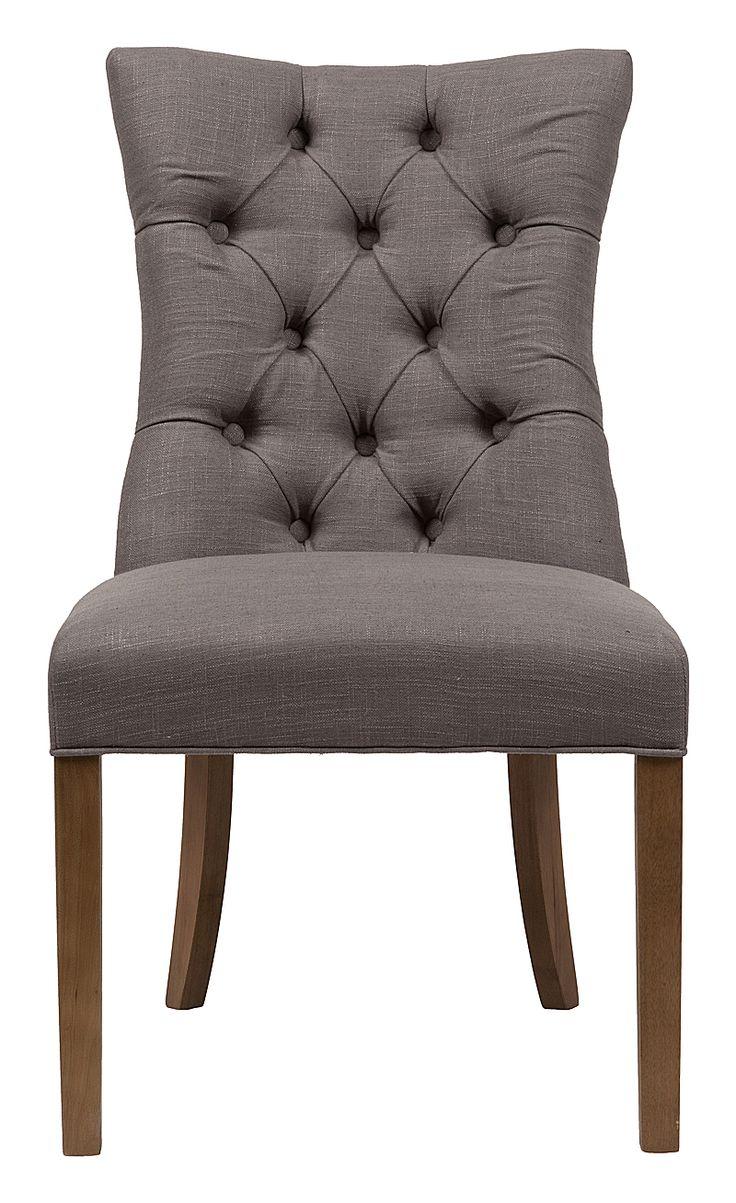 """""""Эстетически приятный мягкий обеденный стул. Полностью в обивке из прочной, простой в уходе, льняной ткани, спинка декорирована обтяжными пуговицами в технике капитоне, основание из твердого дерева со светлыми полированными ножками обеспечит уверенность и прочность. Большой выбор цветов материалов обивки позволит подобрать необходимую для вашего интерьера цветовую гамму. Этот элегантный стул классического дизайна прекрасно впишется в любой стиль вашей столовой, создаст приятную обеденную…"""