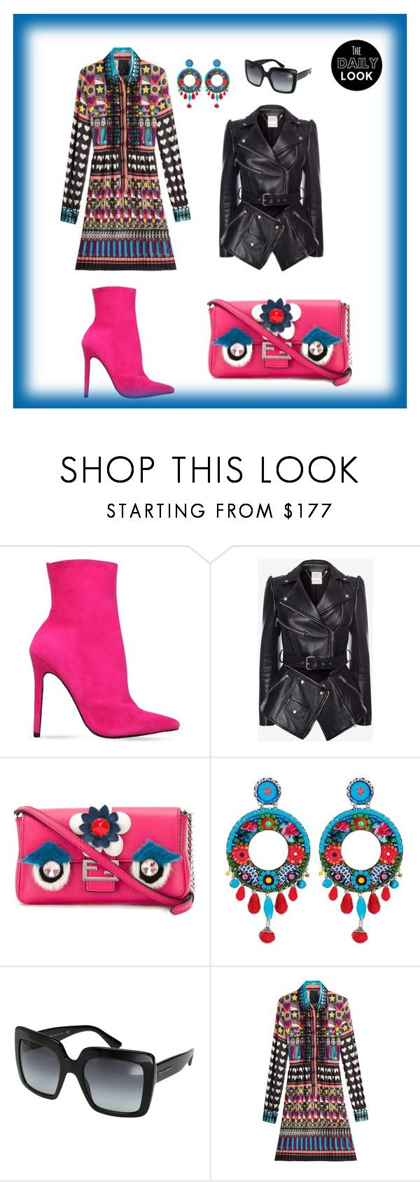 """The Daily Look"" by giagiagia ❤ liked on Polyvore featuring Carvela, Alexander McQueen, Fendi, Ayala Bar, Dolce&Gabbana and Anna Sui"