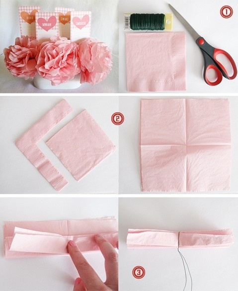 napkin flowers by falling-in-love-tomorrow.tumblr.com