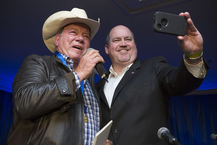Taking a selfie with William Shatner after presenting him with NASA's Distinguished Public Service Medal April 29, 2014, at his charity horse show in Hollywood. C'mon. If you were on stage with him you'd do it too!