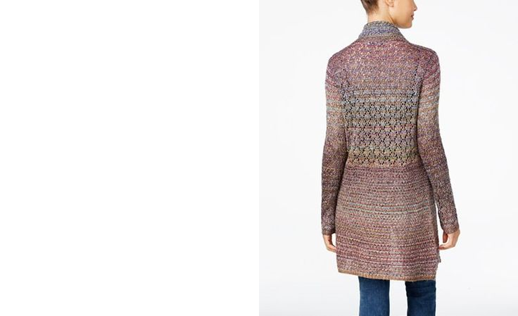 American Rag Marled Pointelle Cardigan, Only at Macy's - Juniors Sweaters - Macy's
