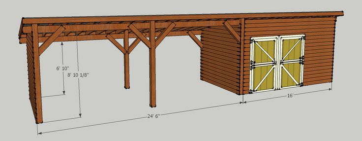 Storage Shed with Carport | Should be able to put about 5 cords under roof. Little shed will be ...
