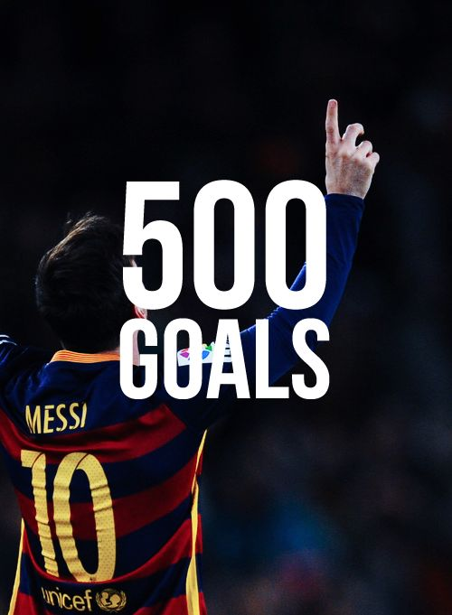 "fcbarcelonasource: """"Congratulations Lionel Messi! Messi has now scored 500 career goals. 435 for Barcelona, 49 for Argentina, 14 for Argentina U20 and 2 for Argentina U23. "" """