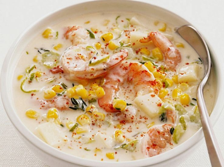 Shrimp chowder with sweet corn - Delicious! See the recipe here.