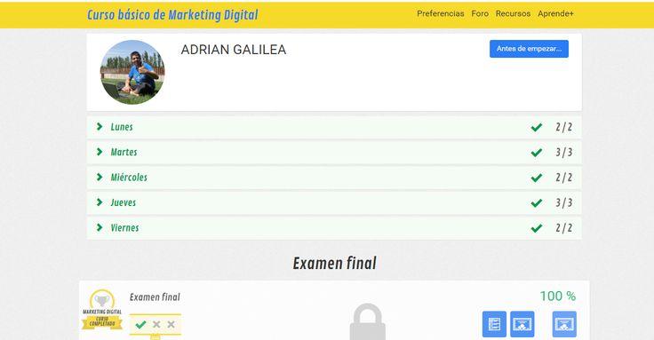 Buenas Tardes! Terminada ya la formación de #Marketing #digital TE AYUDO A VIVIR DE INTERNET http://adrumm.net/