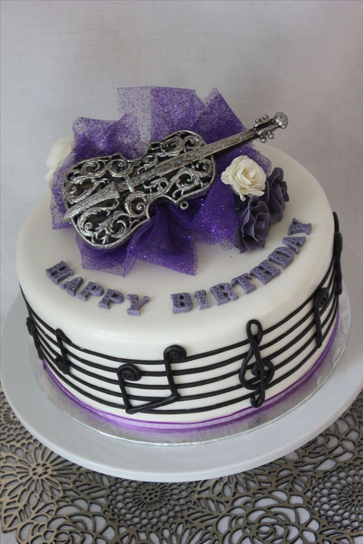 Best 20 music note cake ideas on pinterest music cakes for Violin decorating ideas