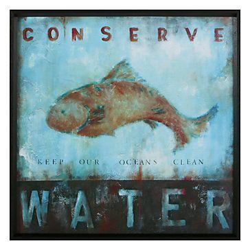 conserve water bathroom wall artbathroom
