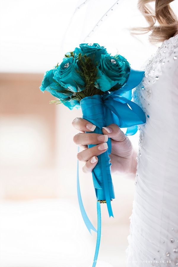 Small blue bouquet. www.lindavos.co.za