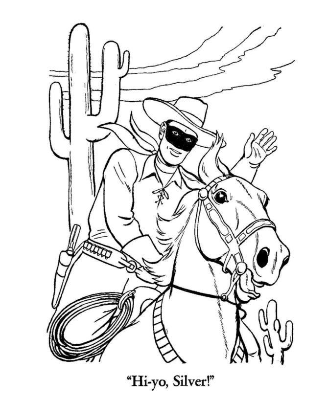 western coloring pages for kids - photo#33