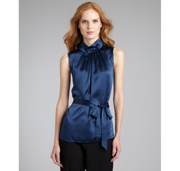 Joie Sleeveless Silk Turtleneck Blouse 17