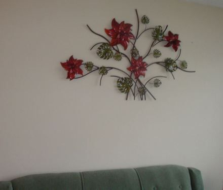 96 best pintura otros images on pinterest ornaments for Decoracion pared metal