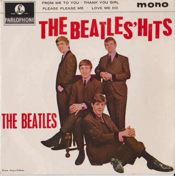 "BEATLES Beatles Hits Ep 1963 Uk Issue Rare 2nd pressing 4trk 7"" 45 rpm Vinyl Single Record 60s Beat Pop gep8880 -  Free Worlwide Shipping"
