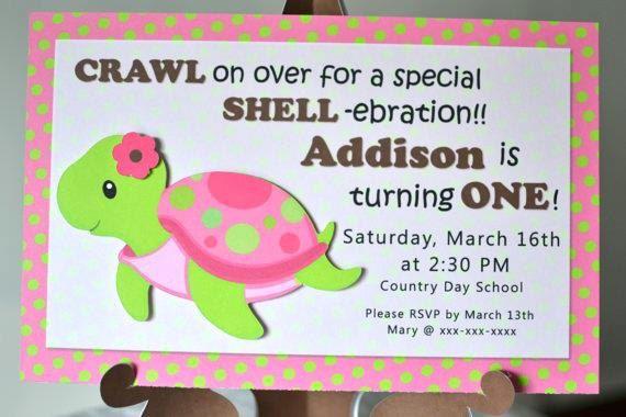 Pink Turtle Birthday Invitations, Turtle Baby Shower, Ocean Birthday, Under the Sea Birthday Party - Invitation on Etsy, $7.67 AUD