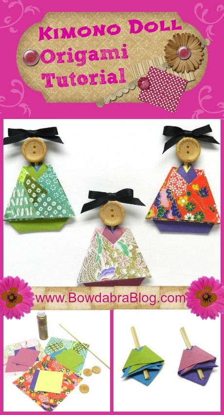 Paper Crafting Kimono Doll Origami Tutorial - adorable!