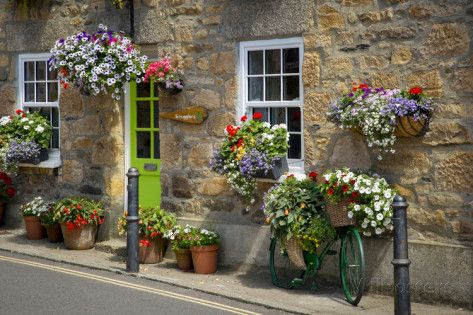 Entrance to Smugglers Bed and Breakfast in Marazion, Cornwall, England Photographic Print
