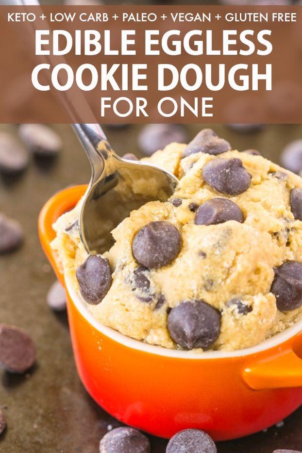 Healthy Edible Cookie Dough For One Keto Vegan Paleo Recipe Cookie Dough For One Cookie Dough Guilt Free Dessert