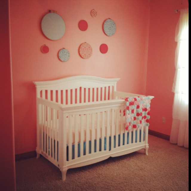 Girls Nursery Coral Accent Wall: Coral & Aqua Images On Pinterest