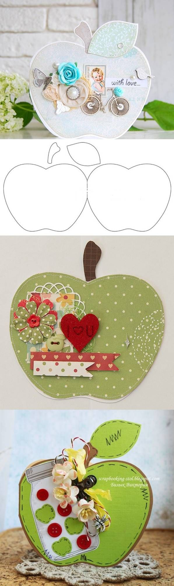 DIY Card in the Form of Apple DIY Projects | UsefulDIY.com Follow Us on Facebook --> https://www.facebook.com/UsefulDiy