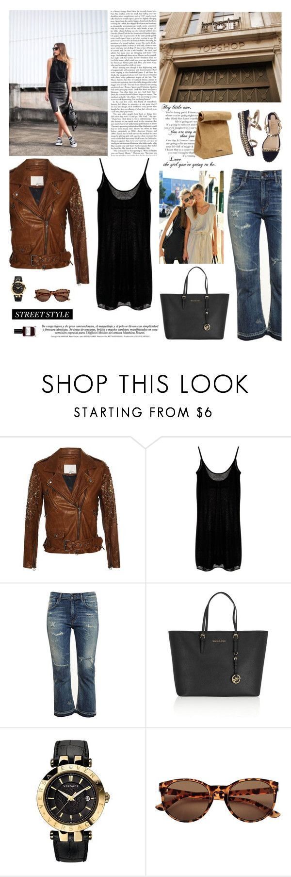 """""""goodbye monday"""" by divadiscodiva ❤ liked on Polyvore featuring 3.1 Phillip Lim, Jil Sander, Enza Costa, Citizens of Humanity, MICHAEL Michael Kors and Versace"""