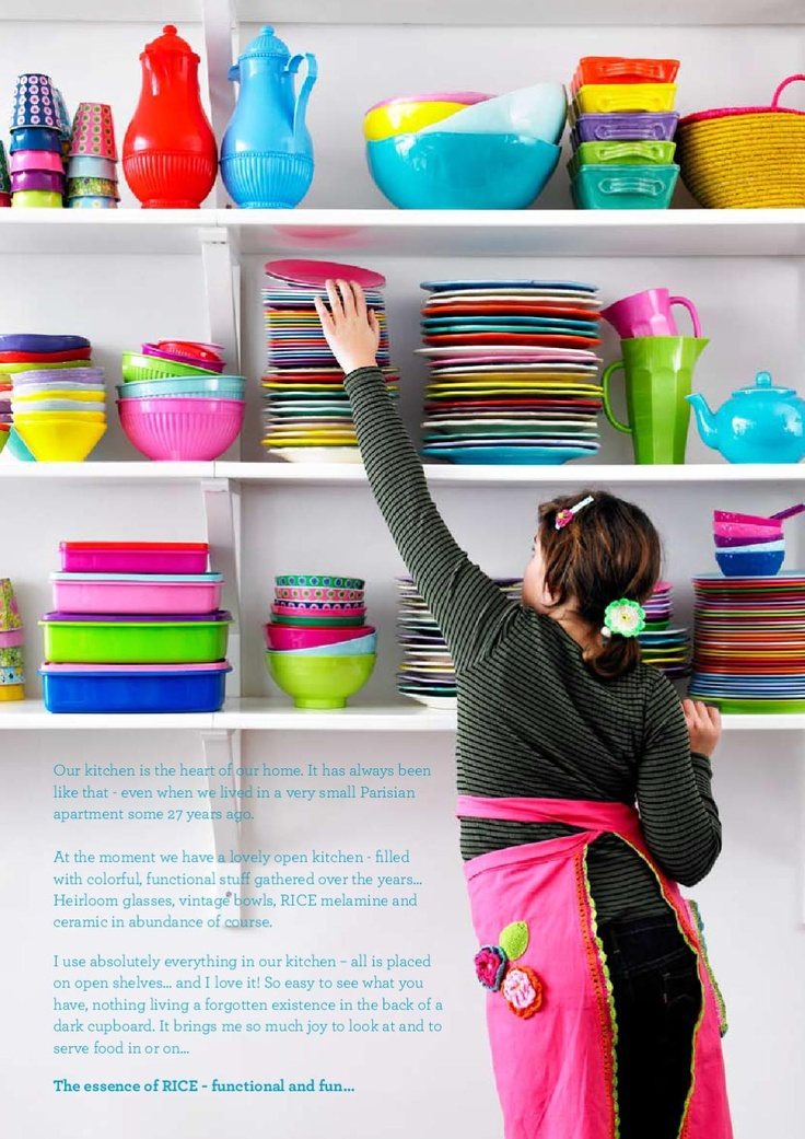 rice kitchenware...I want my house to be all the colours of the rainbow