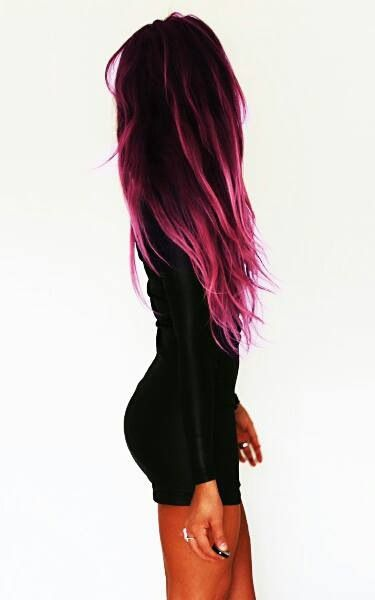 Pink/black ombre | EDGY hair | Pinterest | Hair, Strands ...