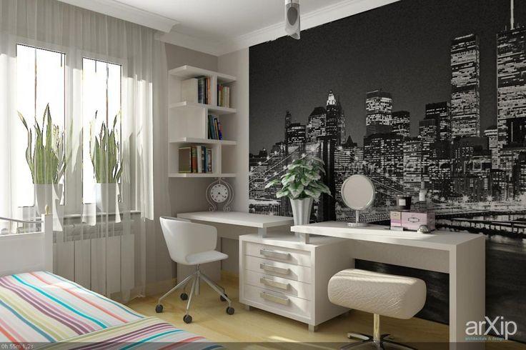 Комната для девочки: интерьер, квартира, дом, современный, модернизм, детская комната, 10 - 20 м2 #interiordesign #apartment #house #modern #nursery #10_20m2 arXip.com