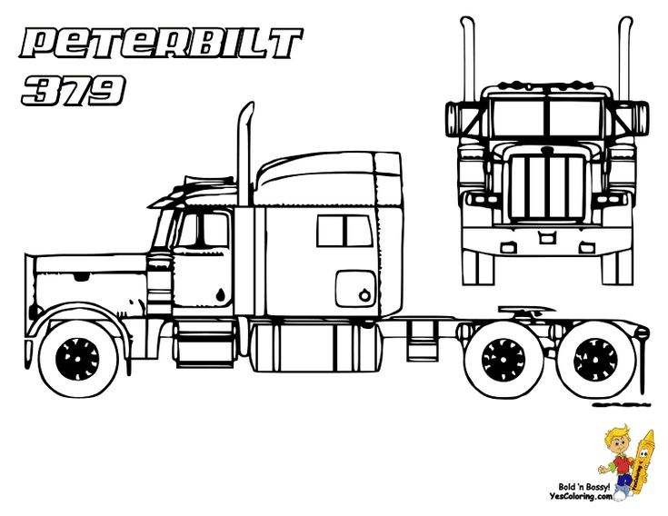 peterbilt semi truck coloring pages
