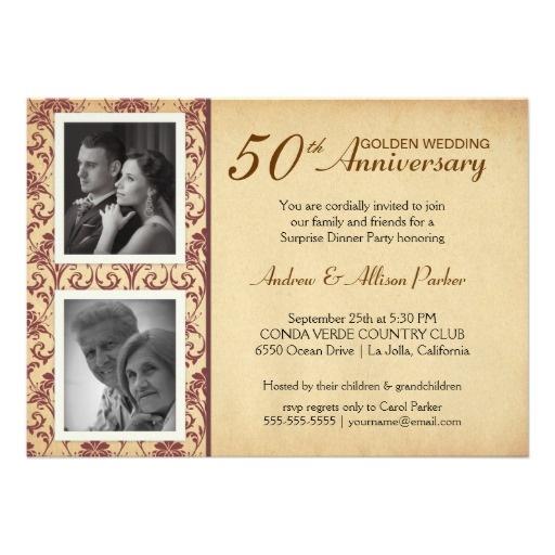 9 best 50th wedding invitations images on pinterest 50th 60th wedding anniversary invitations vintage wedding anniversary invitations 2 photos from zazzle stopboris Images