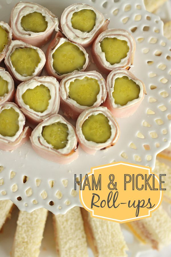 Ham and Pickle Roll Ups - literally the easiest things you will ever make. Perfect for after-school snacks, appetizers or finger-foods for parties. Find all our yummy pins at https://www.pinterest.com/favfamilyrecipz/