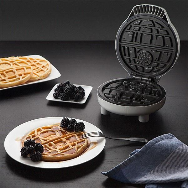 The Waffle Awakens with the Star Wars Death Star shaped Waffle maker