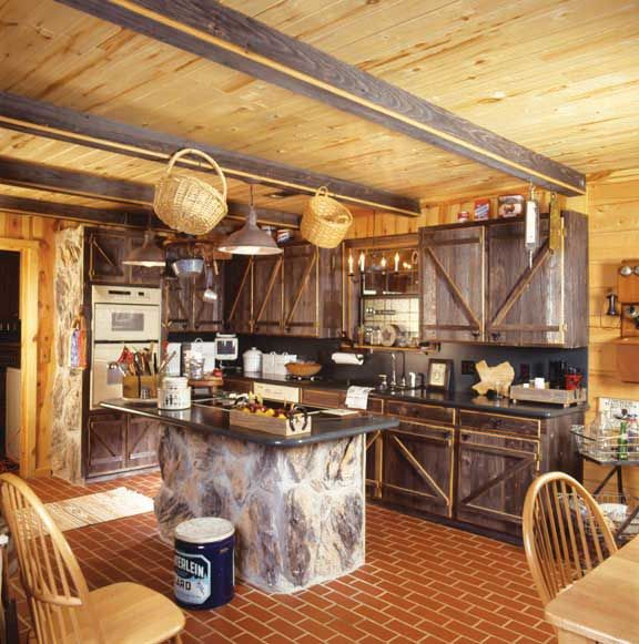 Kitchen Character Old Barn Board Cabinet Doors Match The Character Of A Lot Of